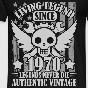 living 1970 1a.png T-Shirts - Men's Premium T-Shirt