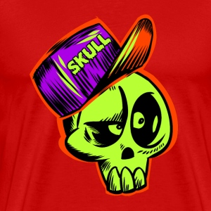 Skate Tee Shirt Skull Cap Head Design - Men's Premium T-Shirt