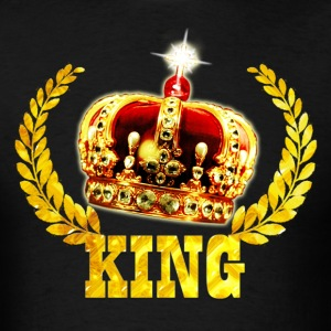 King Golden Crown laurel wreath men's T-Shirt - Men's T-Shirt