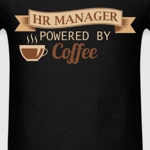 HR Manager - HR Manager powered by coffee - Men's T-Shirt