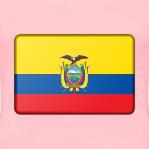 Ecuador flag (bevelled) - Women's Premium T-Shirt
