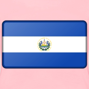 Flag of El Salvador (bevelled) - Women's Premium T-Shirt