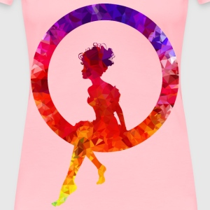 Topaz Sapphire Ruby Fairy Sitting In A Circle Silh - Women's Premium T-Shirt