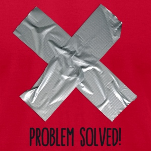 Problem Solved Duct tape T-Shirts - Men's T-Shirt by American Apparel