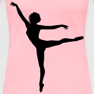 Lithe Dancing Woman Silhouette - Women's Premium T-Shirt