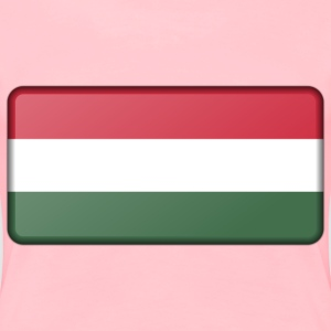 Hungary flag (bevelled) - Women's Premium T-Shirt