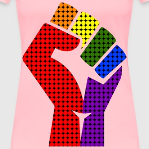Rainbow fist remixed 2 - Women's Premium T-Shirt