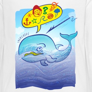 Wild whale saying bad words Kids' Shirts - Kids' Premium Long Sleeve T-Shirt