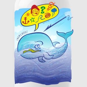 Wild whale saying bad words Sportswear - Water Bottle