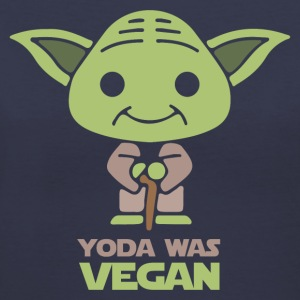 Yoda Was Vegan T-Shirts - Women's V-Neck T-Shirt