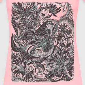 Birds in forest 01 Blur - Women's Premium T-Shirt