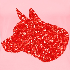 Ruby Dog Head Silhouette - Women's Premium T-Shirt