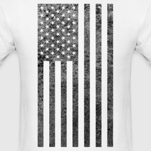 American Flag Grunge Black T-Shirts - Men's T-Shirt