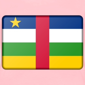 Central African Republic flag (bevelled) - Women's Premium T-Shirt