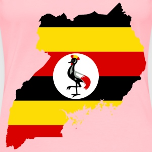 Uganda Flag Map - Women's Premium T-Shirt
