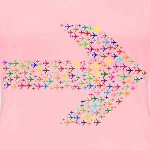 Colorful Planes Arrow - Women's Premium T-Shirt