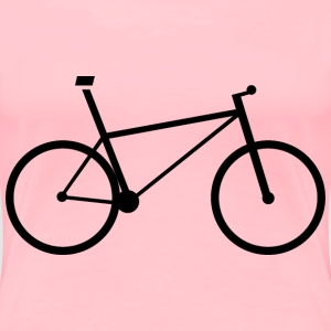 Bicycle Icon Silhouette - Women's Premium T-Shirt