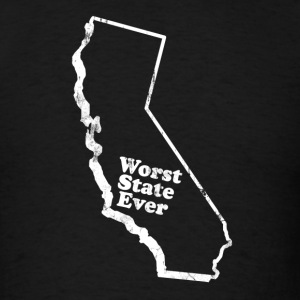 CALIFORNIA - WORST STATE EVER T-Shirts - Men's T-Shirt