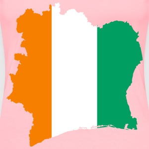 Ivory Coast Flag Map - Women's Premium T-Shirt