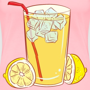 Cold Glass Of Lemonade - Women's Premium T-Shirt