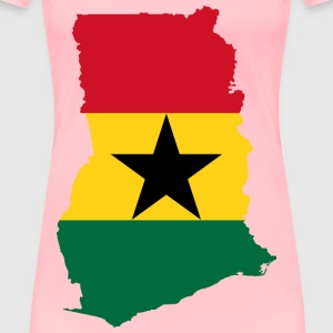 Ghana Flag Map - Women's Premium T-Shirt