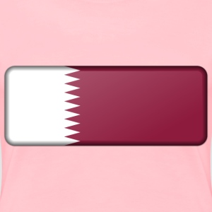 Flag of Qatar (bevelled) - Women's Premium T-Shirt