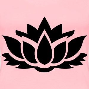 Lotus Flower Silhouette 8 - Women's Premium T-Shirt