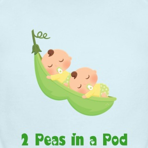 2 Peas in a Pod Twin Boys Baby Bodysuits - Short Sleeve Baby Bodysuit