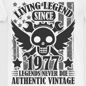 living 1977 2as.png T-Shirts - Men's Premium T-Shirt