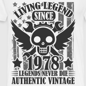living 1978 2as.png T-Shirts - Men's Premium T-Shirt
