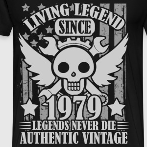 living 1979 1a.png T-Shirts - Men's Premium T-Shirt