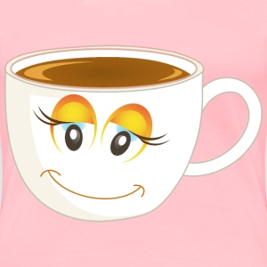 Anthropomorphic Happy Female Cup Of Coffee Or Tea  - Women's Premium T-Shirt