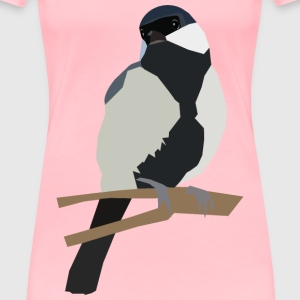 Japanese Tit on a twig - Women's Premium T-Shirt