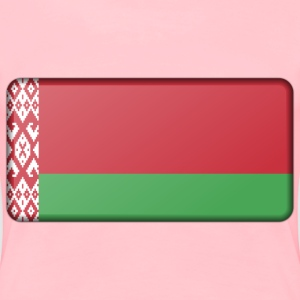 Belarus flag (bevelled) - Women's Premium T-Shirt