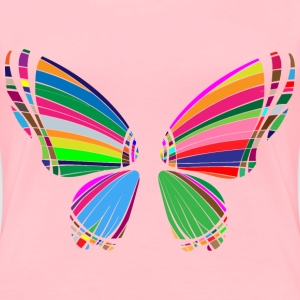 RGB Butterfly Silhouette 10 - Women's Premium T-Shirt