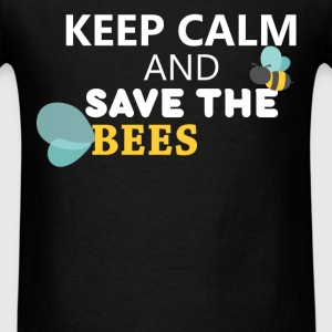 Bees - Keep calm and save the bees - Men's T-Shirt