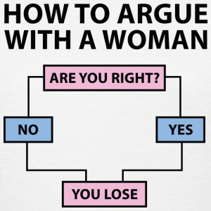 How To Argue With A Woman - Women's T-Shirt