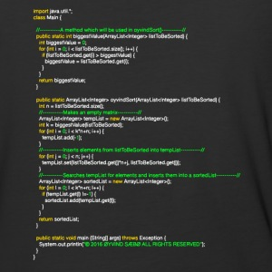 oyvindSort() java code T-Shirts - Baseball T-Shirt