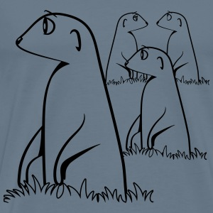 Meerkats look watch witty T-Shirts - Men's Premium T-Shirt