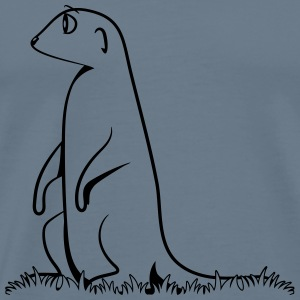 Meerkats looking watch animal T-Shirts - Men's Premium T-Shirt