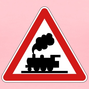 Train Crossing Sign - Women's Premium T-Shirt