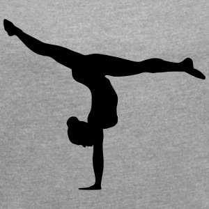 Gymnast, Gymnastics (super cheap!) T-Shirts - Women´s Roll Cuff T-Shirt
