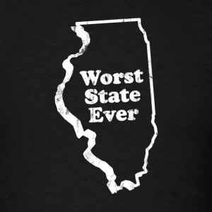 ILLINOIS - WORST STATE EVER T-Shirts - Men's T-Shirt
