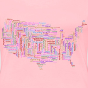 America States And Capitals Word Cloud Variation 2 - Women's Premium T-Shirt