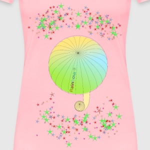 umbrella with text rainbow and colorful stars - Women's Premium T-Shirt
