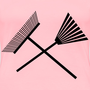 Crossed Rakes - Women's Premium T-Shirt