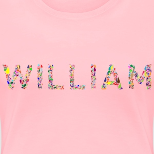 William Typography - Women's Premium T-Shirt