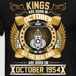 The Real Kings Are Born On October 1954 T-Shirts - Men's Premium T-Shirt