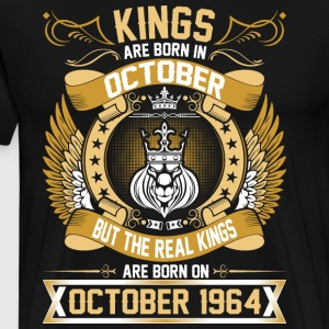 The Real Kings Are Born On October 1964 T-Shirts - Men's Premium T-Shirt
