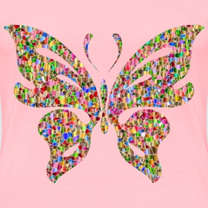 Iridescent Chromatic Butterfly 4 No Background - Women's Premium T-Shirt